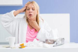 Частый кашель является признаком вирусной пневмонии