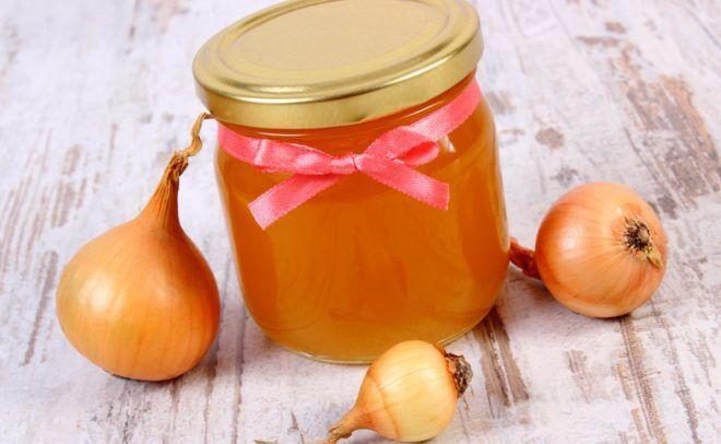 Лук с медом для лечения любого вида кашля
