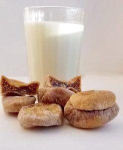 Молоко с инжиром против кашля