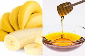 Банан с медом при кашле