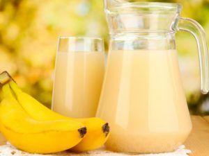 Банановый кисель для лечения кашля