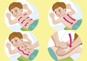 Как правильно делать дренажный массаж детям