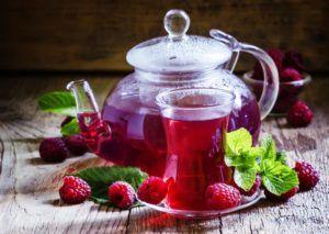 Малиновый чай для лечения бронхита