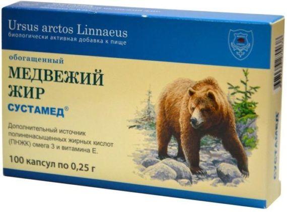 Медвежий жир для растираний