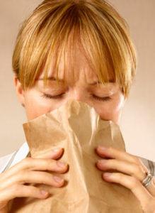 Нормализация дыхания при гипервентиляционном синдроме