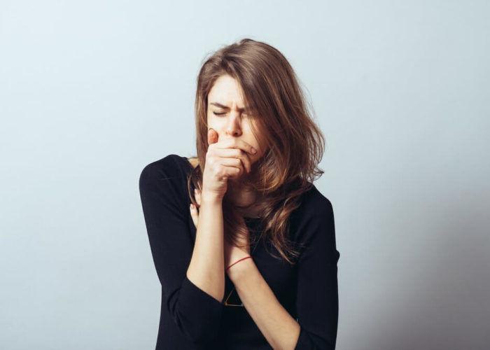 Приступообразный кашель с удушьем
