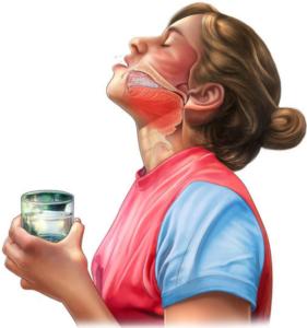 Содовый раствор устраняет болезненные ощущения при кашле