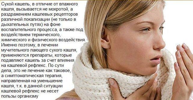 Стоптусин применяют при сухом кашле