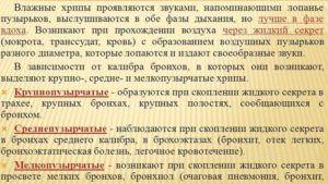 Классификация влажных хрипов