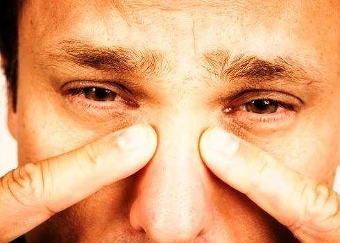 Легкая отечность носа