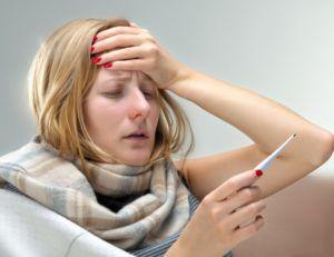Лихорадочное состояние на третьей стадии пневмонии