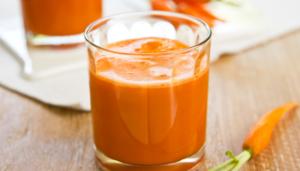 Морковный сок и молоко