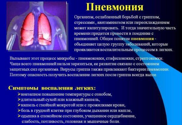При пневмонии может возникнуть кашель с температурой