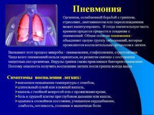 Пневмония является причиной развития кашлевого рефлекса