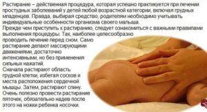 Растирания грудной клетки при бронхите