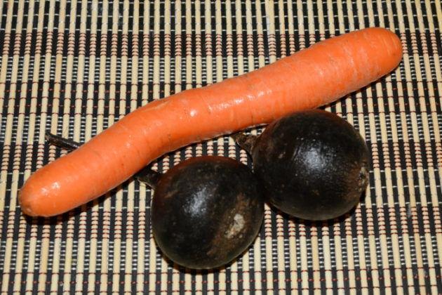 Редька с морковью