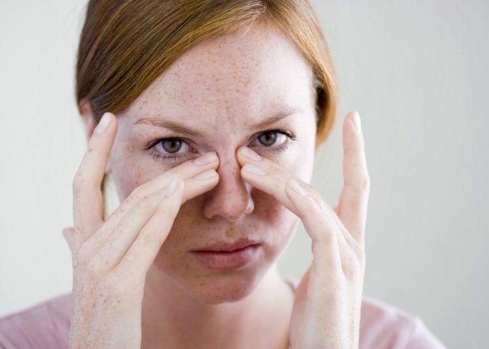 Тяжесть в области носовых пазух