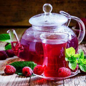 Чай из свежих ягод малины