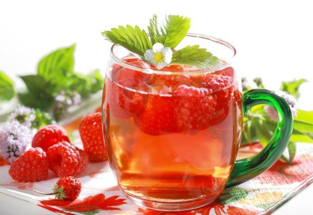 Малиновый чай для лечения кашля детям