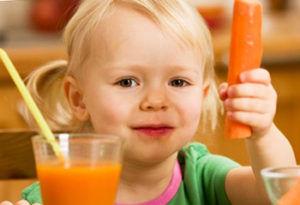 Морковный фреш для лечения кашля у детей