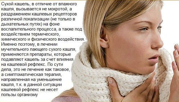 Такие препараты применяют при сухом кашле