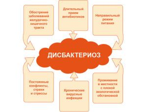 Развитие дисбактериоза
