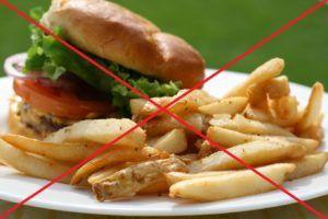 За день до сдачи анализа нельзя употреблять жирную пищу