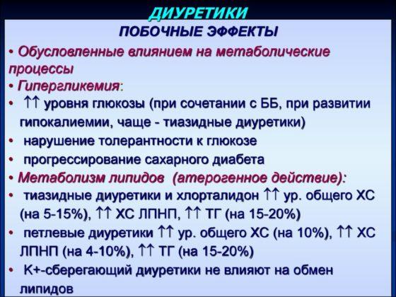 Опасность при использовании диуретические средства
