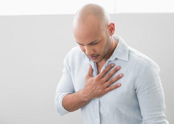 Проявление аллергичеких реакций в виде одышки