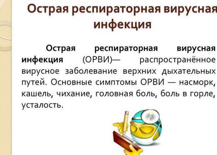 Респираторно-вирусных инфекций бронхолегочной системы