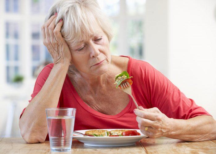 Снижение или полное отсутствие аппетита