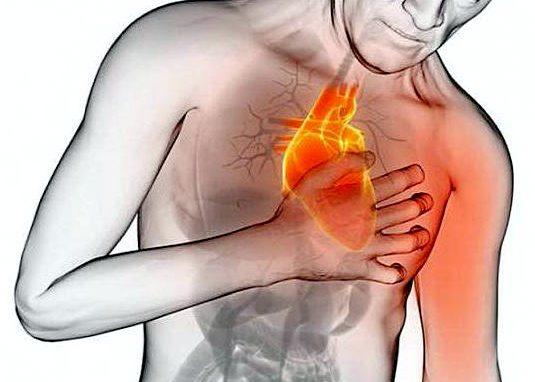Учащённое сердцебиение, боль в грудине
