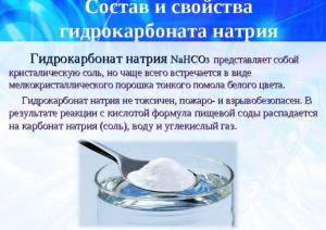 Активное вещество гидрокарбонат натрия