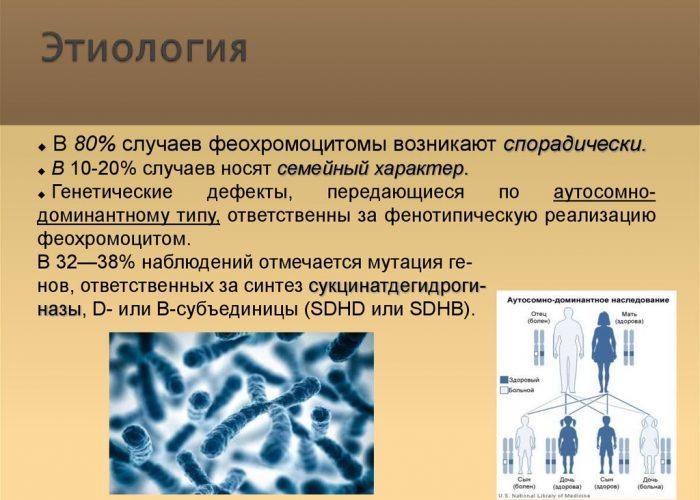 Выраженная феохромоцитома